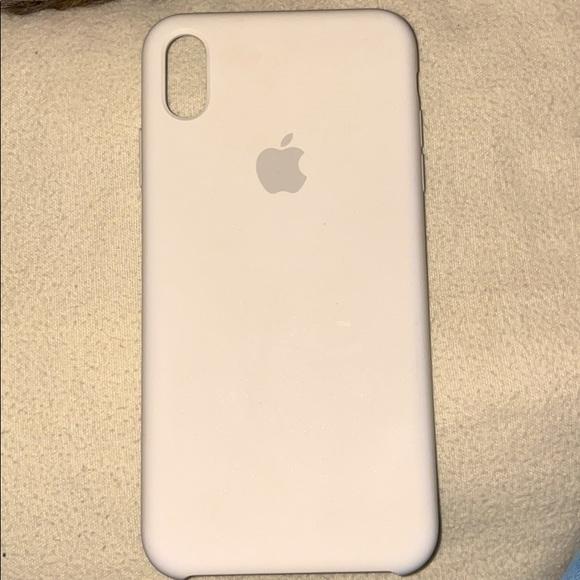 White Apple IPhone X Max Case
